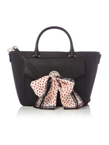 Love Moschino Scarf black pocket tote bag