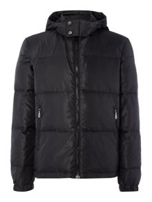Hooded heavyweight padded down jacket