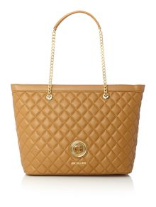 Love Moschino Superquilt tan large tote bag