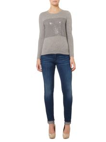 Hugo Boss Long sleeve jumper with sequin detail