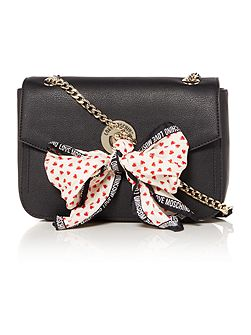 Love Moschino Scarf black shoulder bag