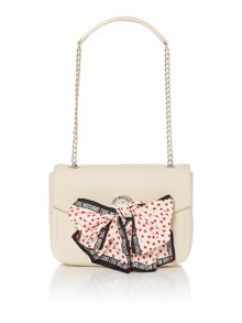 Love Moschino Scarf white shoulder bag