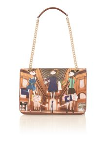 Love Moschino Charming multi shopping print shoulder bag