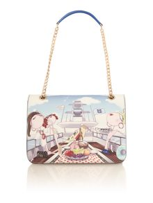 Love Moschino Charming multi yacht print shoulder bag