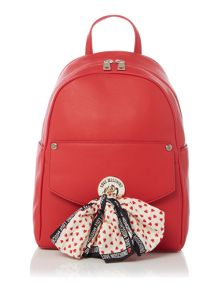 Love Moschino Scarf red Backpack