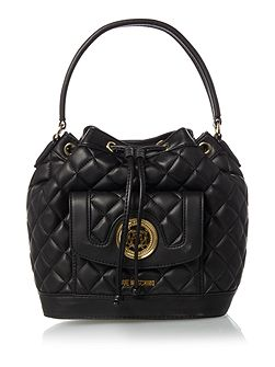 Love Moschino Superquilt black bucket bag
