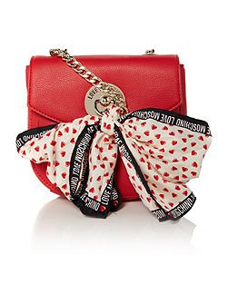 Love Moschino Scarf red small crossbody bag