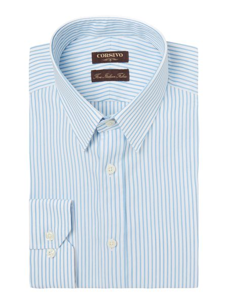 Corsivo Walter Textured Stripe Shirt