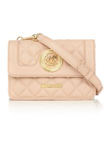 Love Moschino Superquilt pink small crossbody bag