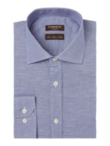 Corsivo Monaldo Mini Textured Linen Blend Shirt