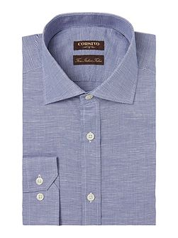 Men's Corsivo Monaldo Mini Textured Linen Blend Shirt