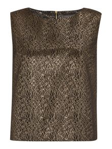 Vince Camuto Lurex jacquard shell top