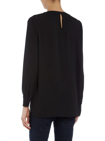 Vince Camuto Wrap front embellished neck top