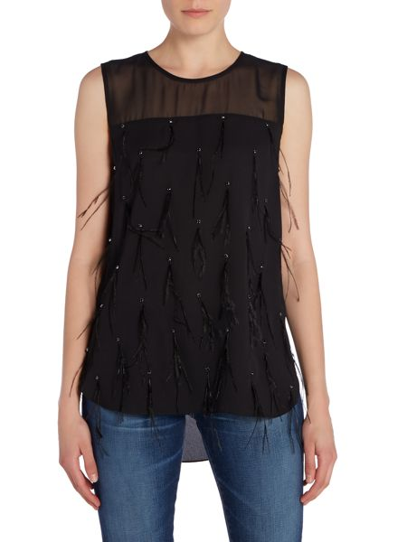 Vince Camuto Feather shell top
