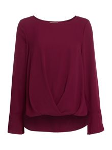 Vince Camuto Long sleeve woven blouse