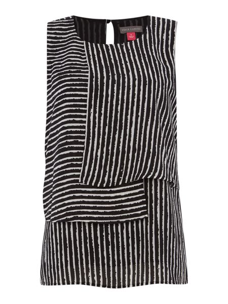 Vince Camuto Stripe layer shell top