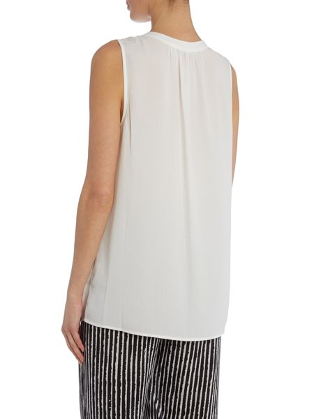 Vince Camuto Front pleat woven blouse