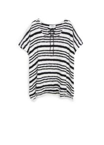 Striped cotton cape