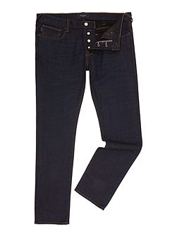 Tapered Fit Black Wash Jeans