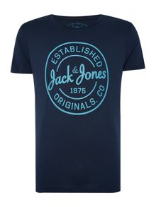 Jack & Jones Logo Printed Crew Neck T-shirt