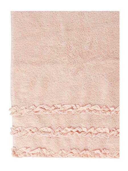 Shabby Chic Frill border bath towel pink