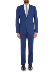 Single Breasted Tonal Check Solid Suit