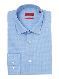 Slim Fit Business Check Shirt