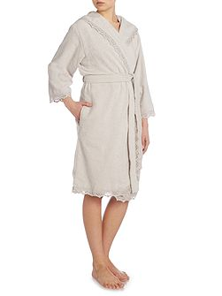 Crochet robe M/L grey