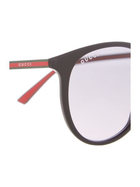 Gucci GG 1102/S male black oval sunglasses