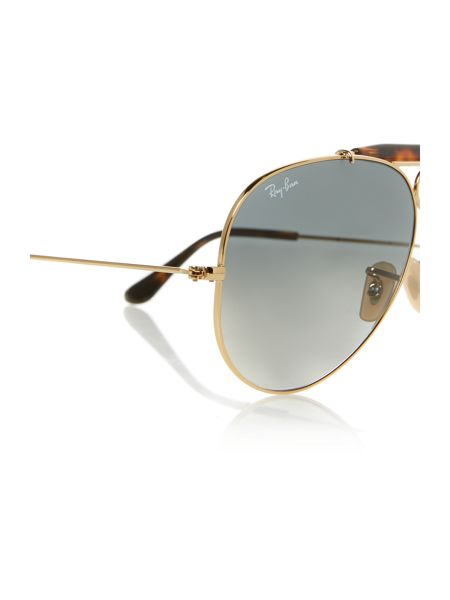 Ray-Ban RB3138  male gold aviator sunglasses