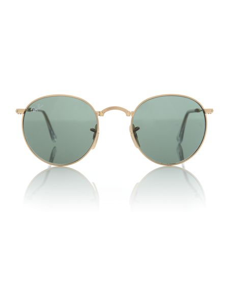 Ray-Ban RB3532  male gold round sunglasses