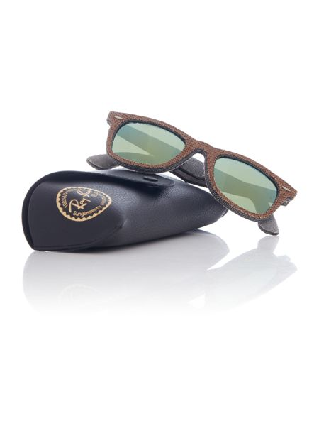 Ray-Ban RB2140 wayfarer unisex brown square sunglasses
