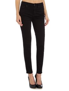 721 high rise skinny jean in black sheep