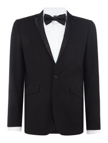 Kenneth Cole Kendrick Leather Lapel Blazer