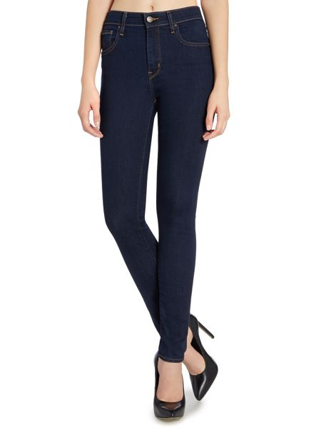 Levi's 721 High rise skinny jean in lone wolf