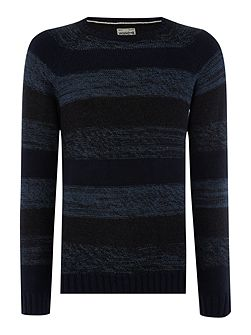 Space Dye Stripe Knitted Jumper