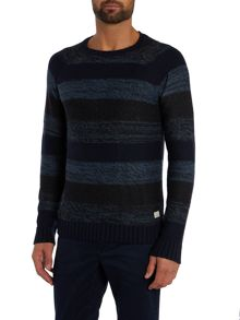 Jack & Jones Space Dye Stripe Knitted Jumper