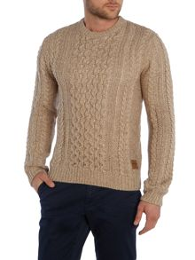 Jack & Jones Cable Knit Crew Neck Jumper