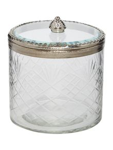 Glass trinket box, large