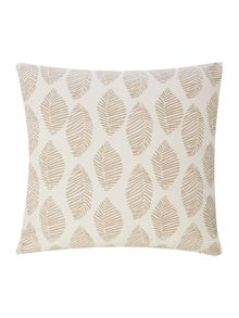 Modern leaf cushion, taupe