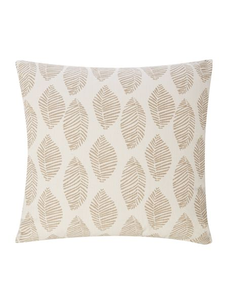 Linea Modern leaf cushion, taupe