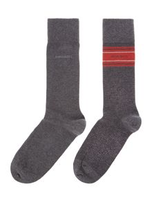 2 pack of argyle and stripe socks