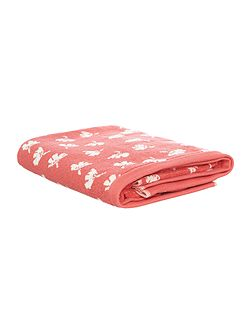 Orange dandy floral bath towel