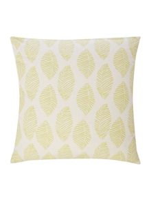 Linea Modern leaf cushion, lime