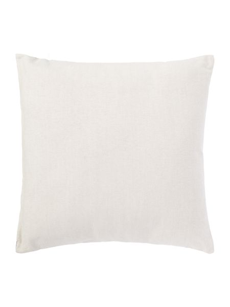 Linea Embroided tile cushion, grey