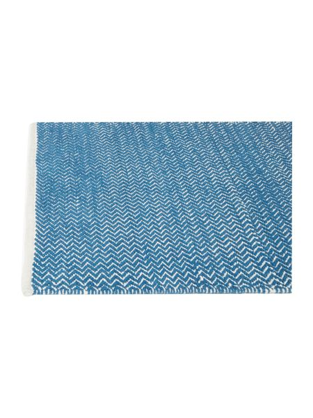 Living by Christiane Lemieux Zig zag teal bathmat