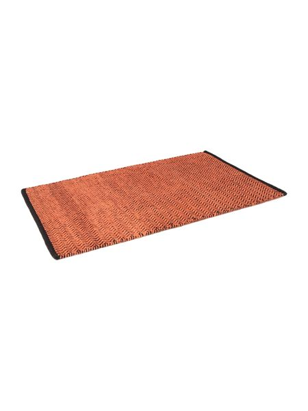 Living by Christiane Lemieux Zig zag burnt orange bathmat