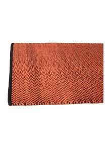 Zig zag burnt orange bathmat
