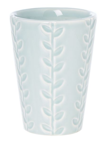 Dickins & Jones Blue embossed tumbler