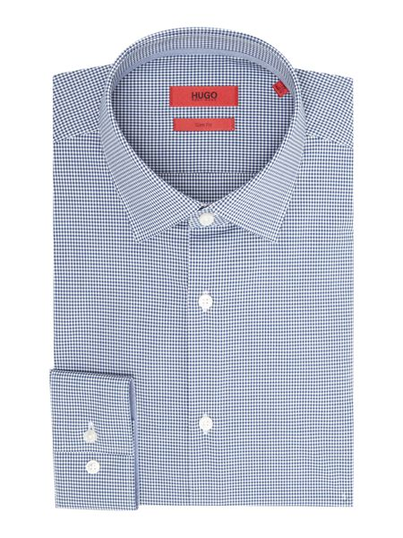 Hugo Slim Fit Business Gingham Shirt